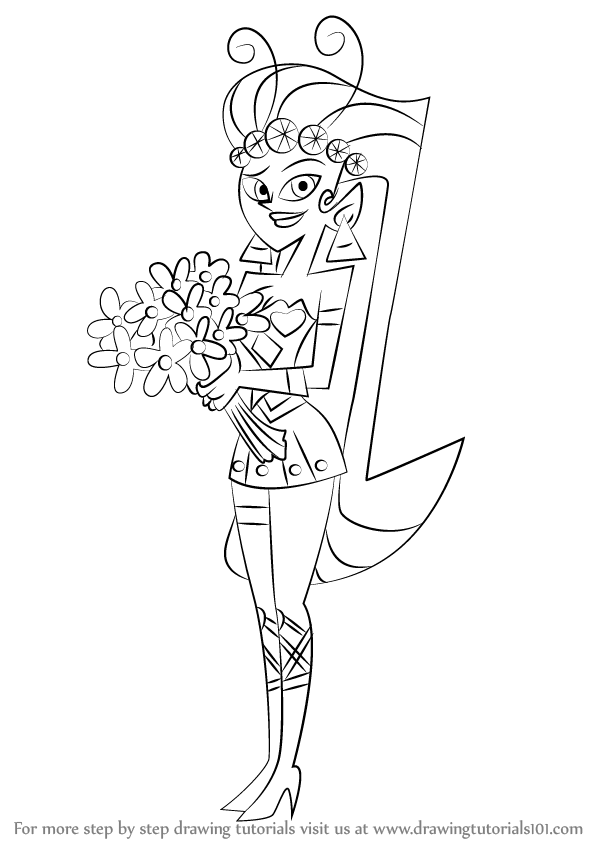 596x844 Learn How To Draw Princess Mandie From The Fairly Oddparents (The