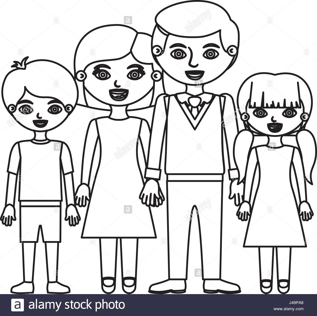 1300x1298 Sketch Silhouette Family Group With Parents And Children Taken