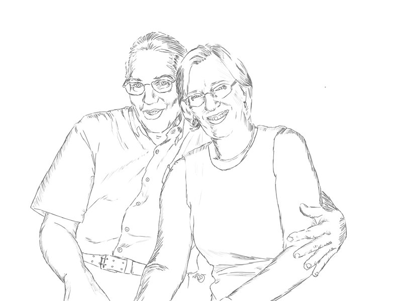 800x600 Cuddley Parents Sketch By Ahojoshi