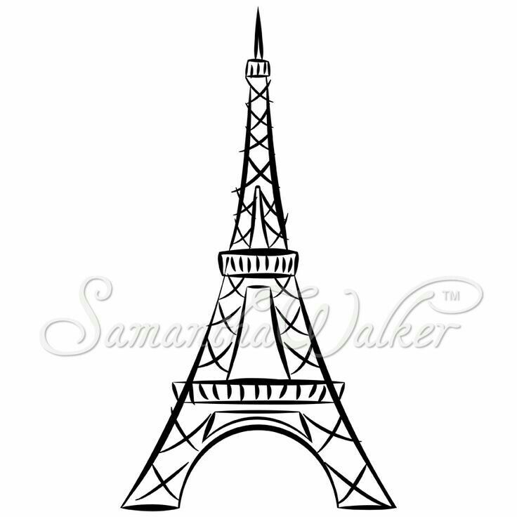 Paris Black And White Drawing