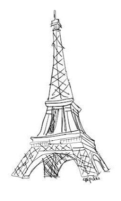 242x400 Images Eiffel Tower Black And White Sketch