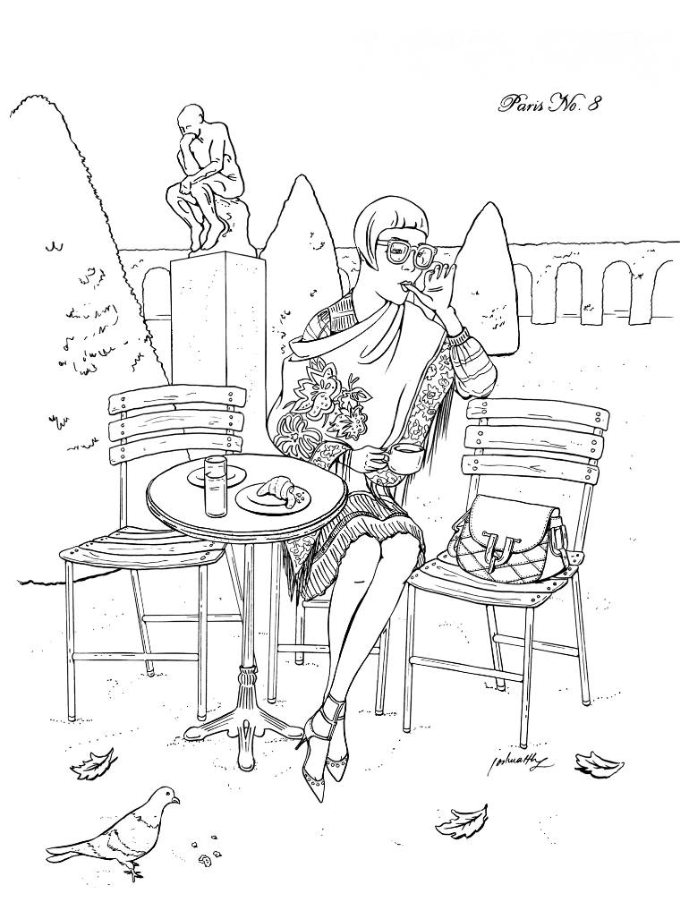 770x1027 Saatchi Art P2455 Paris No. 8 Drawing By Joshua Wong