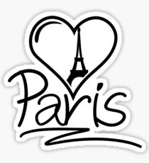 210x230 I Heart Paris Drawing Stickers Redbubble