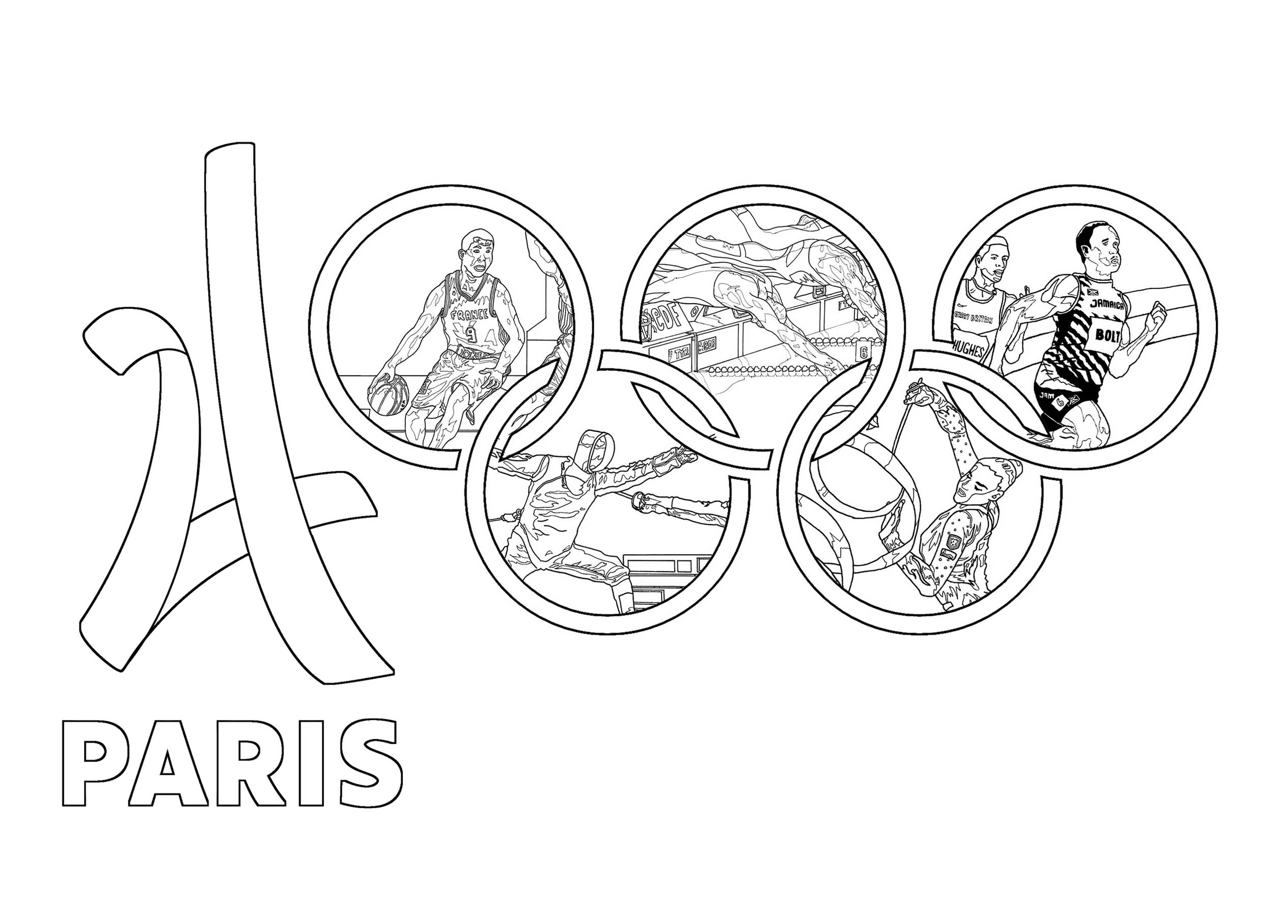 2500x1767 Olympic games paris 2024 Olympic (and sport) coloring pages for