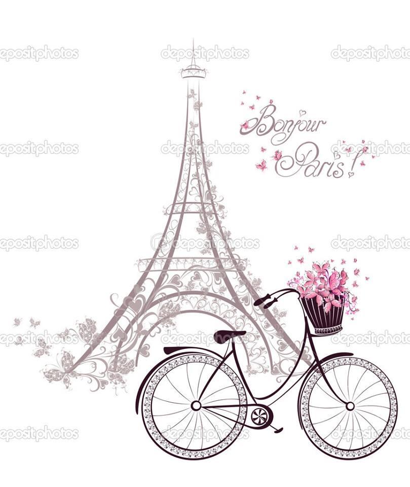 809x960 Paris Girl Clipart