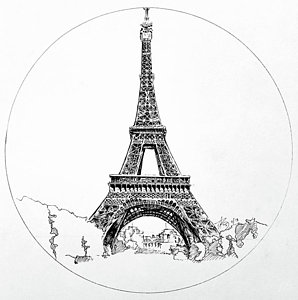 298x300 Paris Landscape Drawings