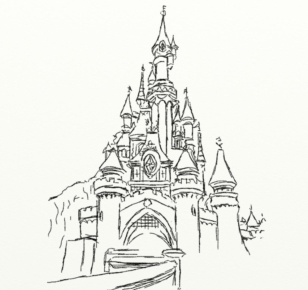 1024x963 Disneyland Castle Drawing Disney Castle Drawing Castle Coloring