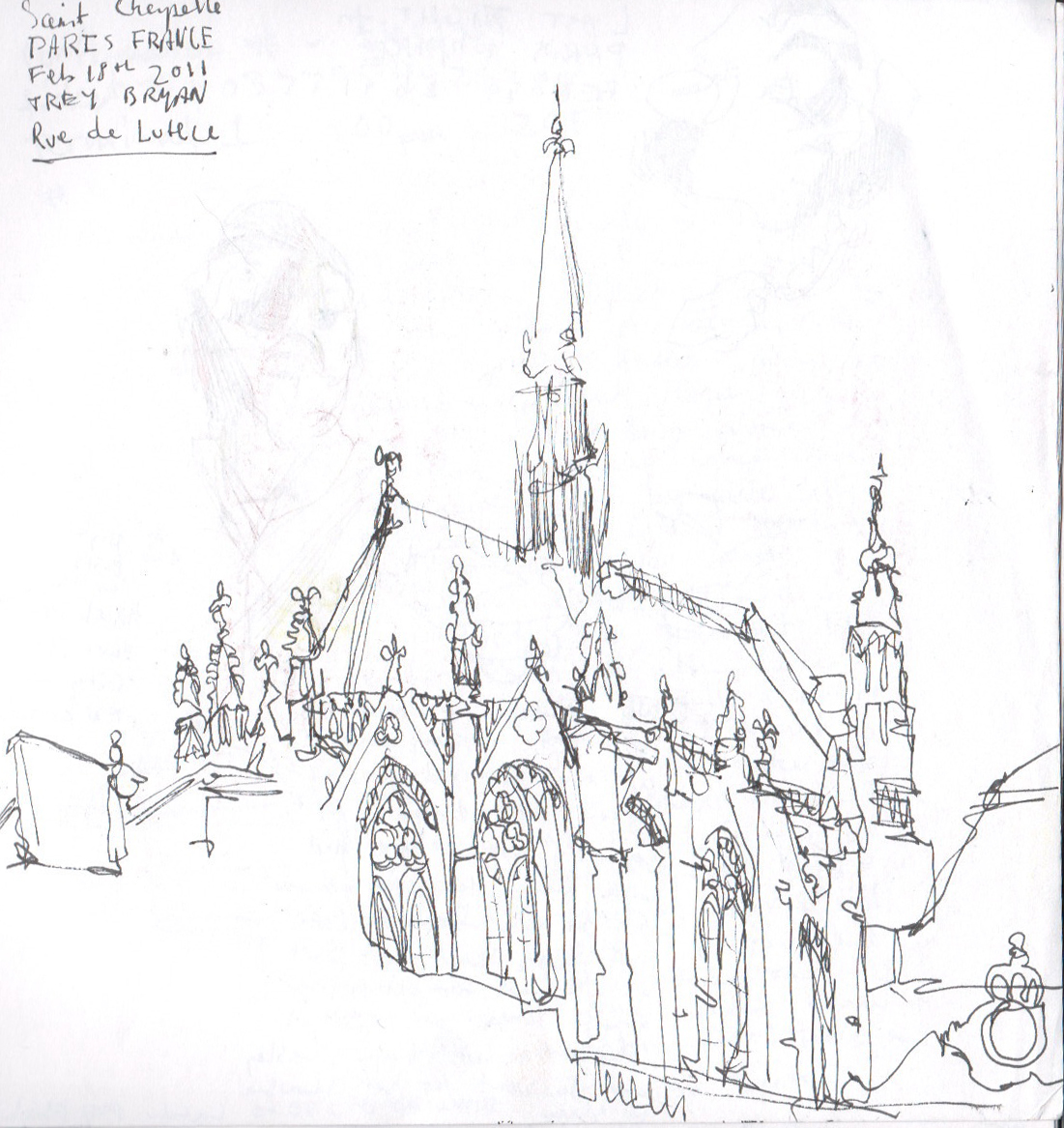1101x1167 The Art Department Kcmo Trey Bryan's Sketchbook From Paris