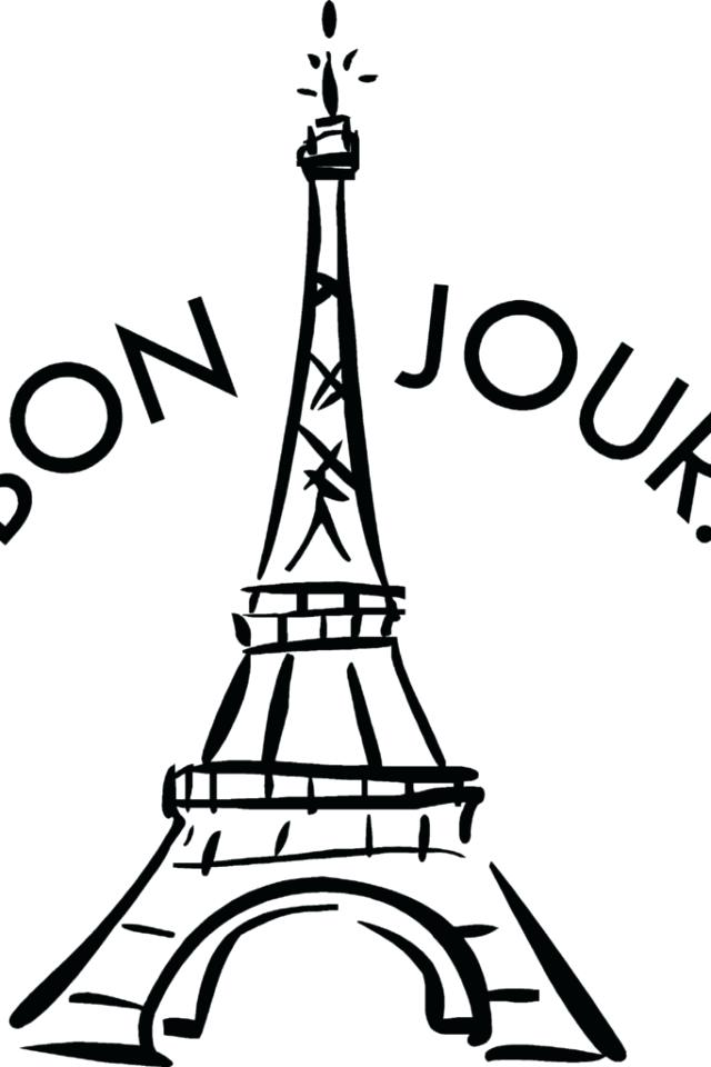 640x960 Eiffel Tower Coloring Pages Tower Coloring Sheet Paris Eiffel