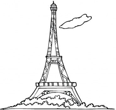 369x350 Luxury Paris Tower Cartoon Paris Eiffel Tower Cartoon Free