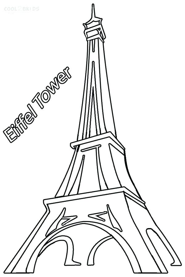 600x900 France Eiffel Tower Coloring Page Printable Pages For Kids Picture