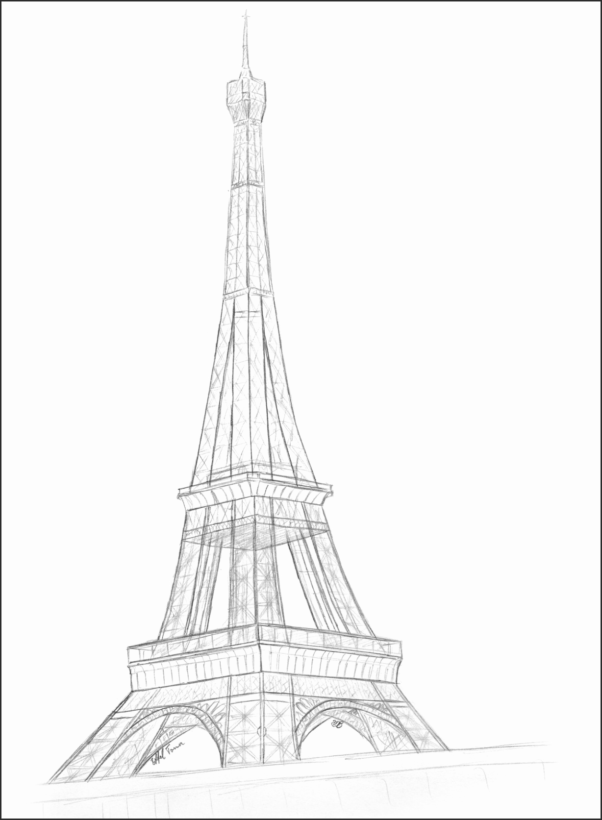 1228x1673 Sketches Of The Eiffel Tower Hcsjt Unique Paris Eiffel Tower