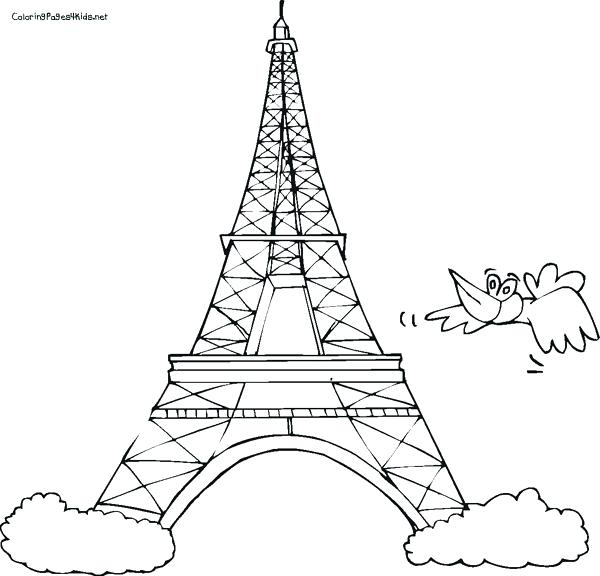 600x576 Eiffel Tower Coloring Pages Adult Tower Hard Coloring Pages