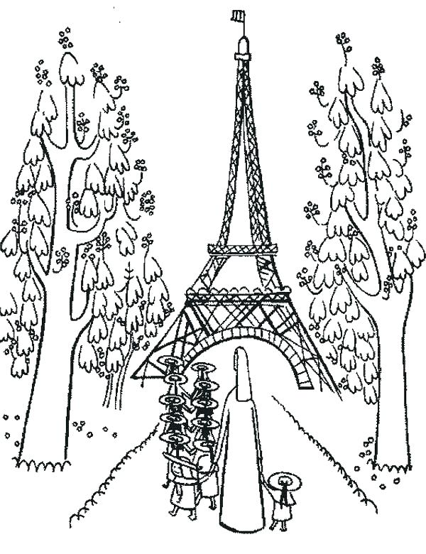 600x780 Eiffel Tower Coloring Sheet Page Tow On Tower To Download And Pri
