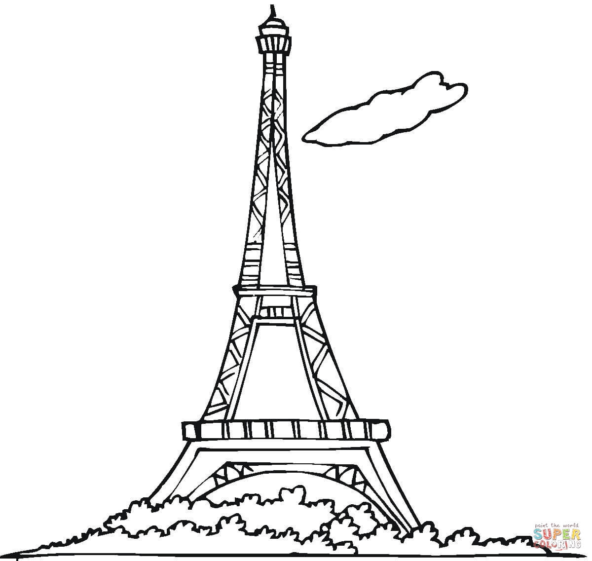 1200x1137 Eiffel Tower Coloring Page Free Printable Coloring Pages