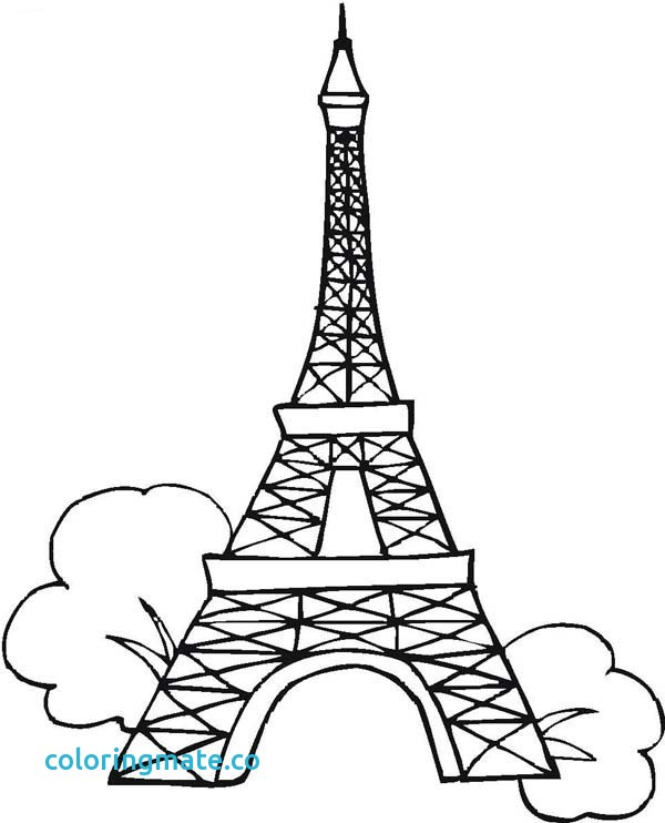 600x742 Eiffel Tower Coloring Pages Unique Eiffel Tower Easy Coloring