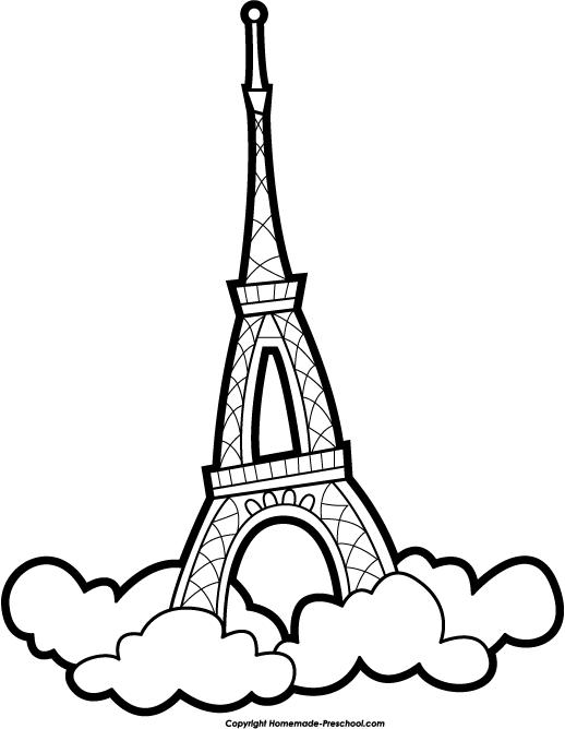 518x668 Free Eiffel Tower Clipart