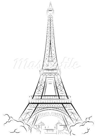 385x550 Images And Places, Pictures And Info France Eiffel Tower Drawing