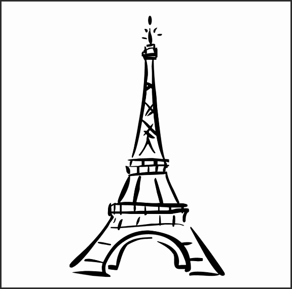 576x570 Simple Eiffel Tower Drawing Bslff Elegant How To Draw Very Easy