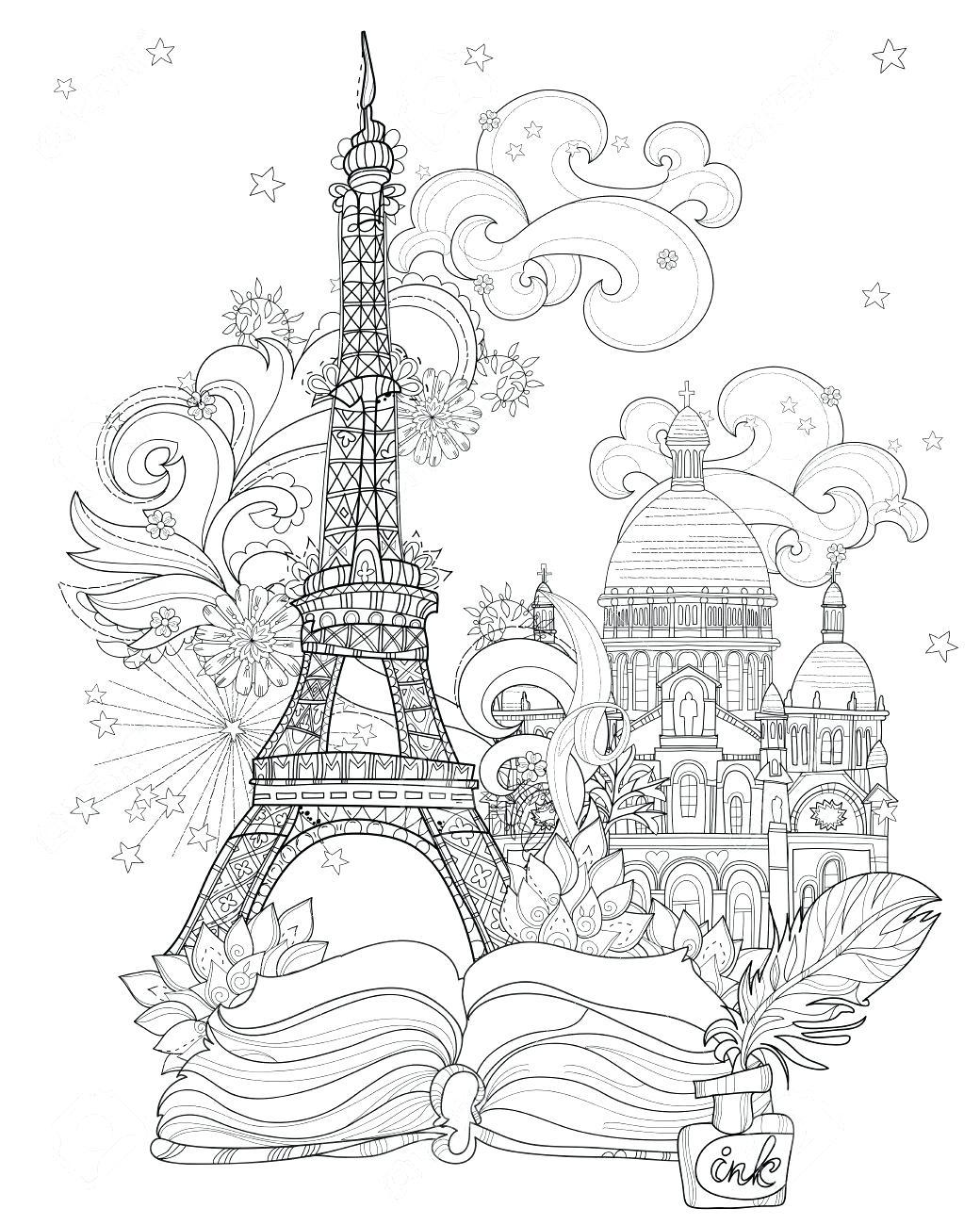1040x1300 Coloring Eiffel Tower Coloring Page Paris Printable Pages. Eiffel