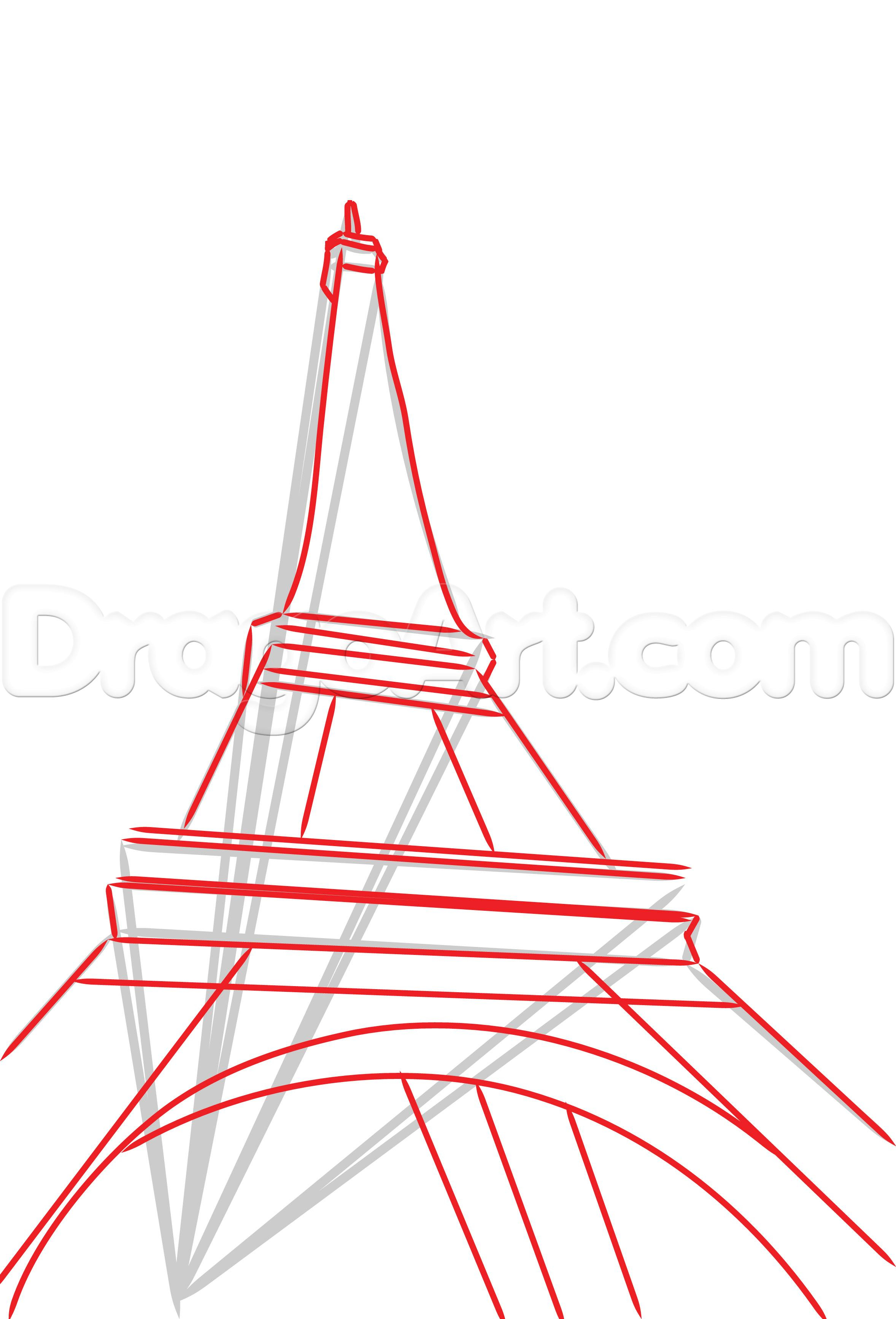 2356x3467 Simple Eiffel Tower Drawing 1000 Images About Eiffel Tower