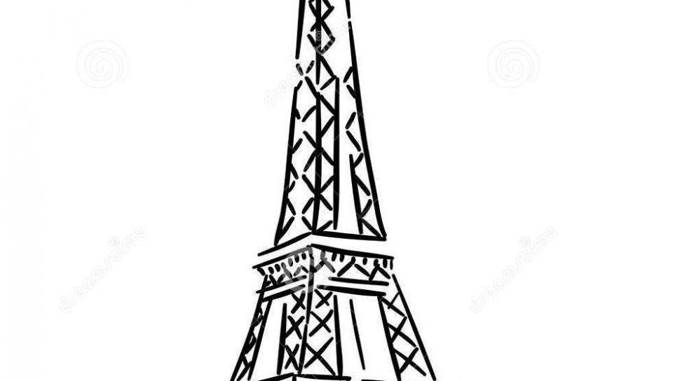 960x544 Download Coloring Pages Eiffel Tower For Preschool Kids Printable