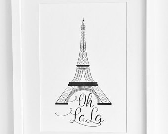 340x270 Eiffel Tower Art Eiffel Vii 11x14 Paris France Print