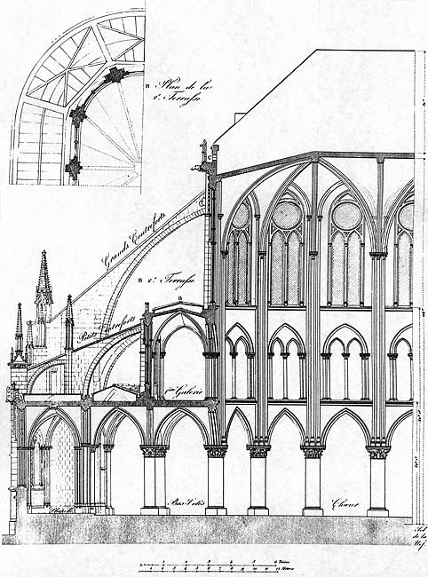 482x650 France. Notre Dame De Paris. Plans, Maps Amp Diagrams.
