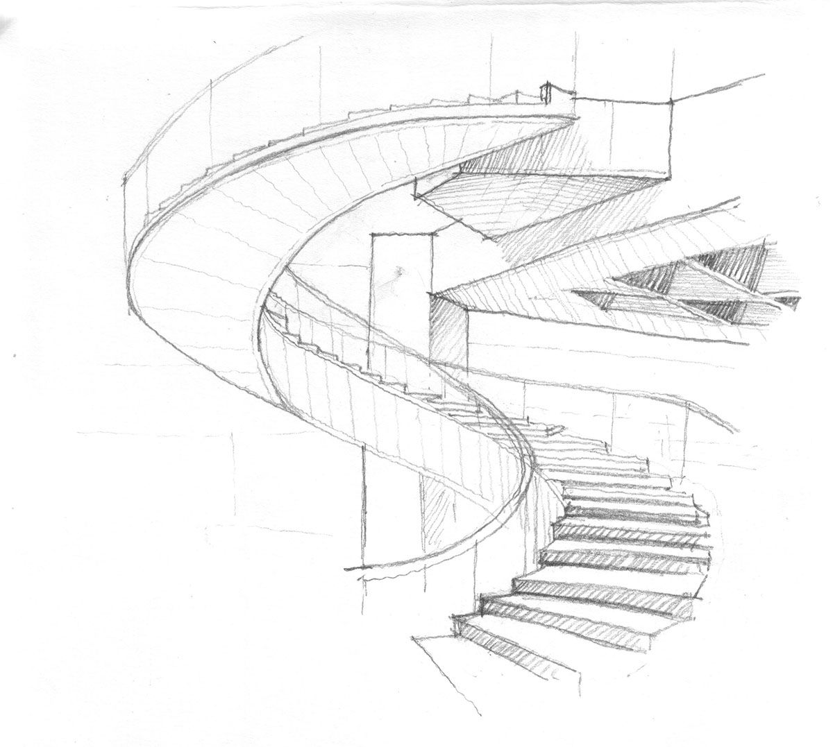 1200x1077 Architecture Sketches On Behance