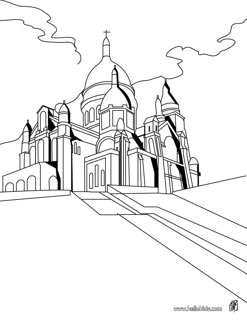 820x1060 Paris In The Middle Age Coloring Pages