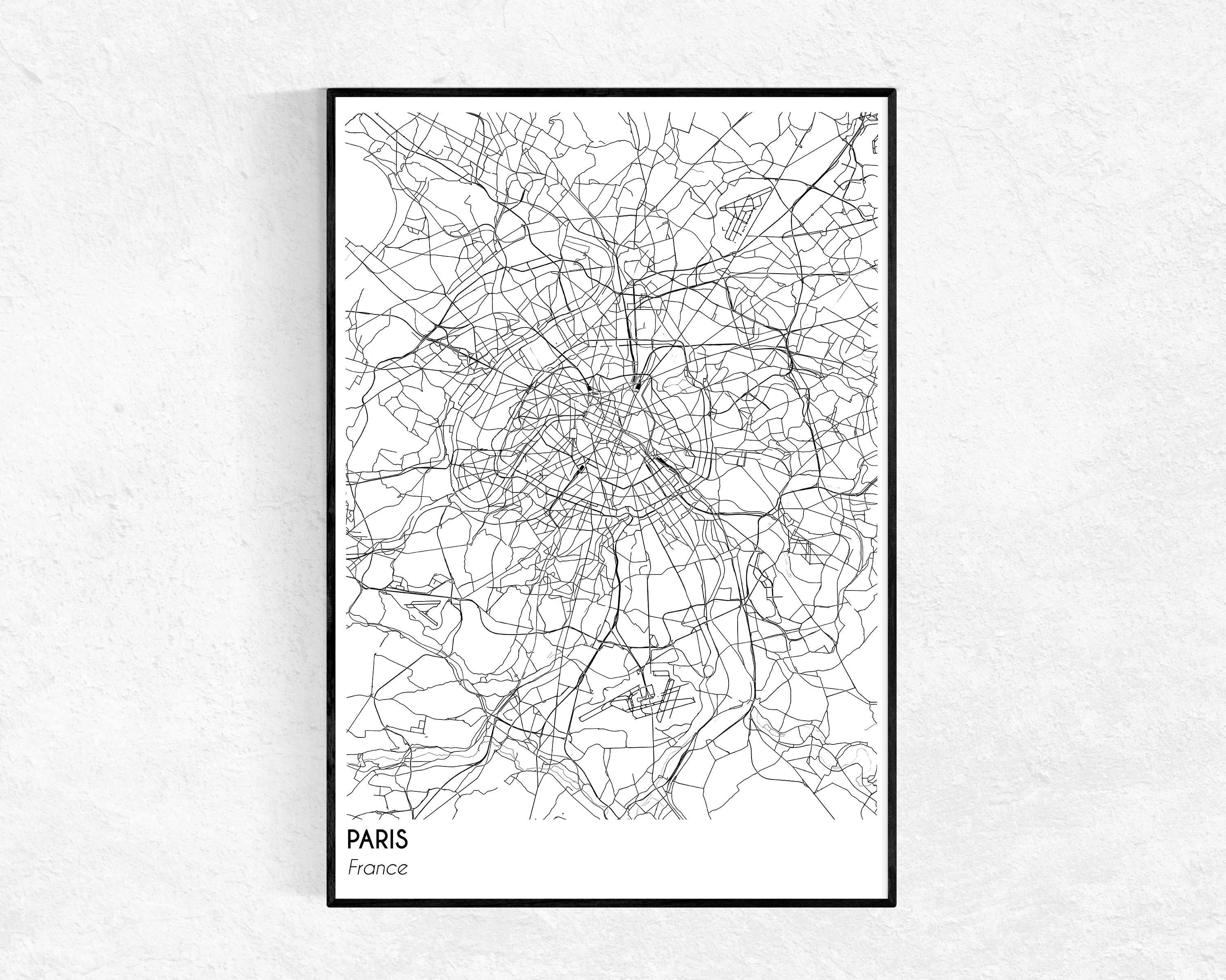Paris Skyline Drawing