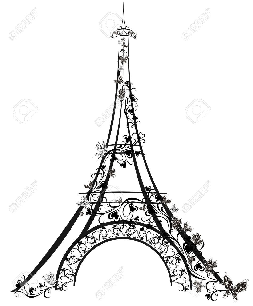 1075x1300 Eiffel Tower, Paris, France Royalty Free Cliparts, Vectors,