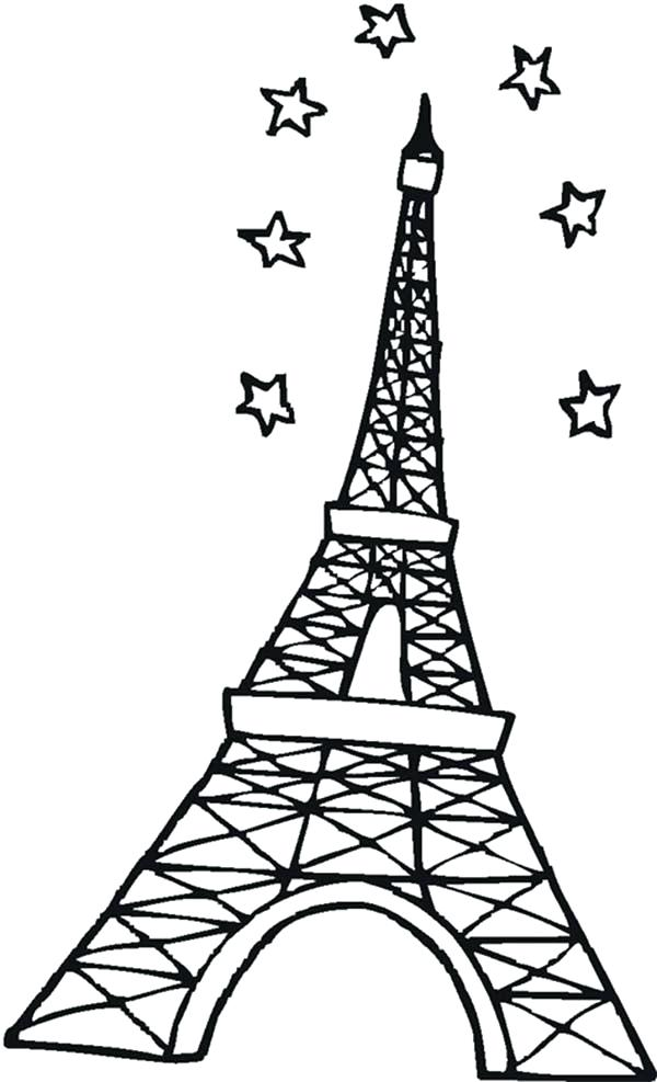 600x987 Eiffel Tower Coloring Pages Packed With Stunning Tower Coloring