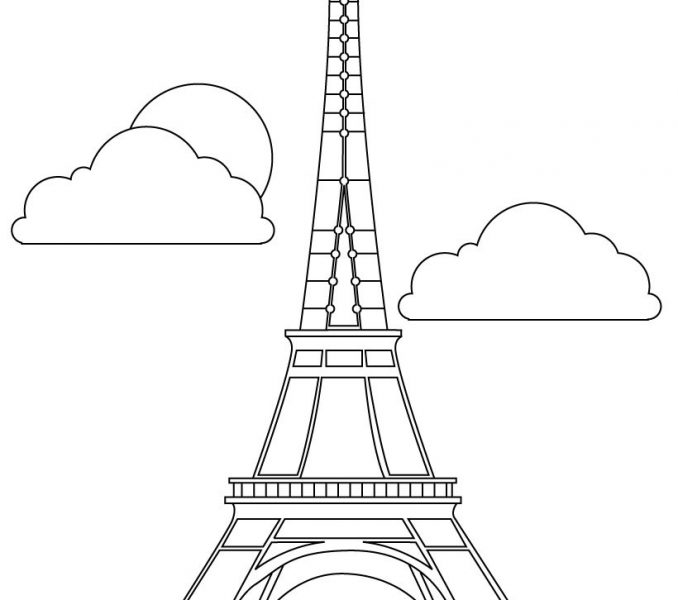 678x600 Eiffel Tower Coloring Sheet Kids Coloring