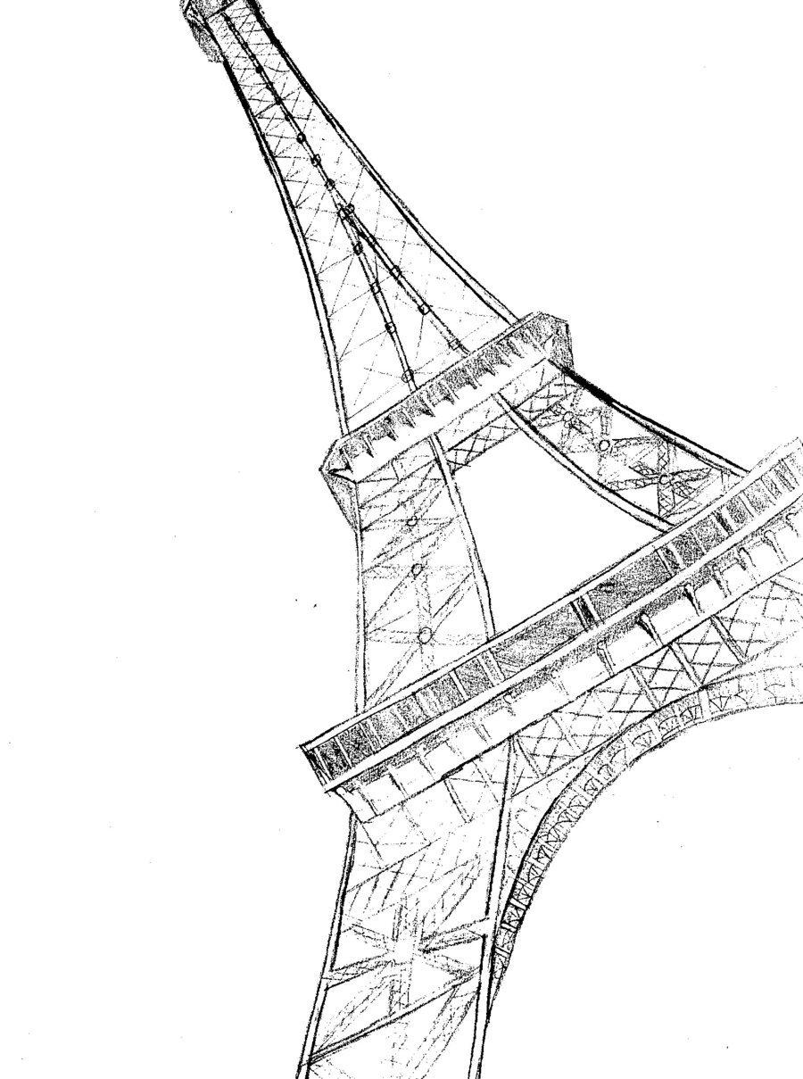 900x1209 Eiffel Tower Sketch By Potterfisk0177