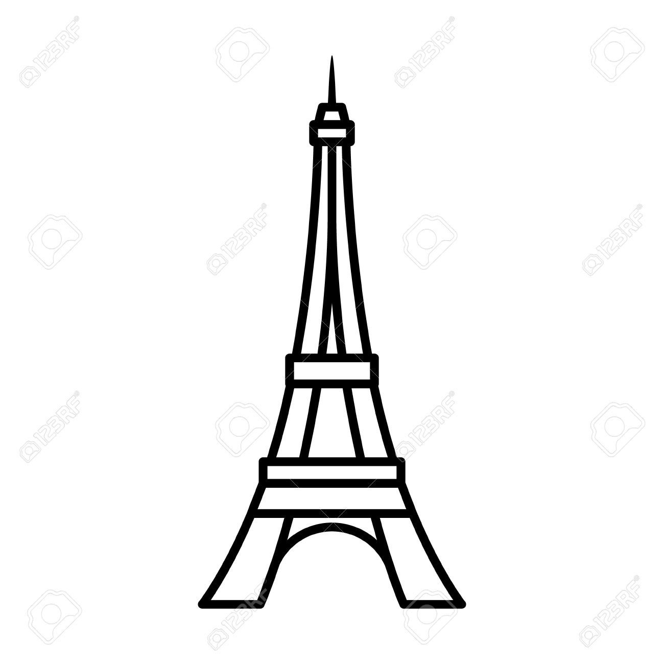 1300x1300 Eiffel Tower Tour Eiffel In Paris Line Art Icon For Apps
