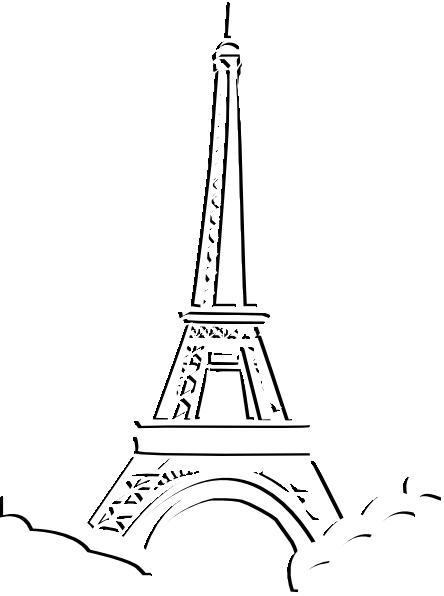 444x596 Eiffel Tower Triple Layer Clip Art