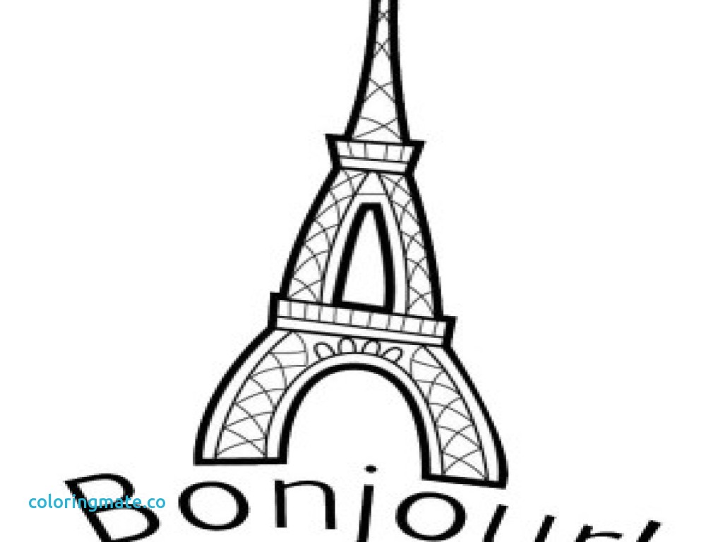 1024x768 Eiffel Tower Coloring Page Best Of Paris Styleat30 Of Coloriafes