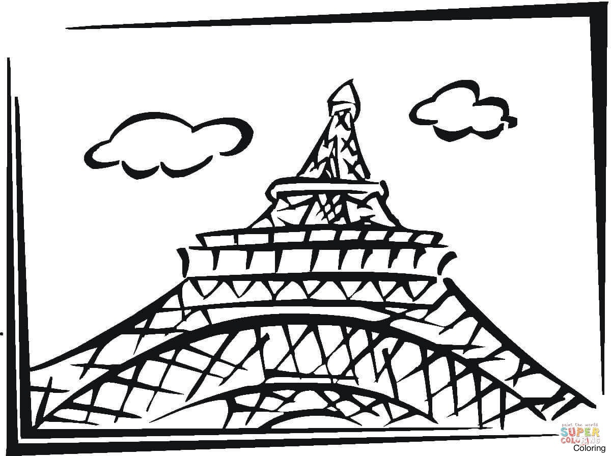 1200x896 Inspiring Eiffel Tower Coloring Page 8 Paris Pages 13f For Adults