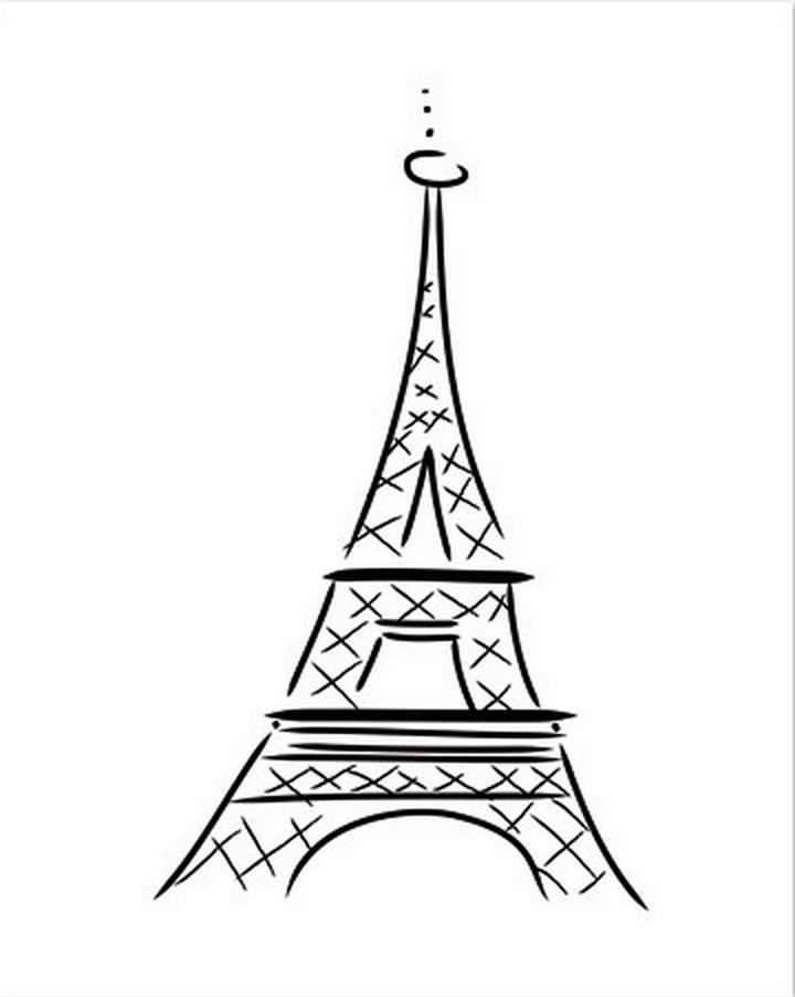720x902 The Everygirl Eiffel Tower Letterpress Print,