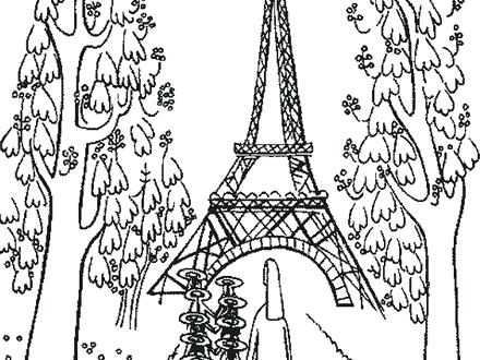 440x330 Delightful Eiffel Tower Coloring Page Crayola Photo