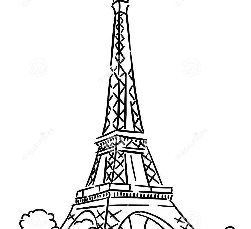 983x900 Download Coloring Pages Eiffel Tower For Preschool Kids Printable