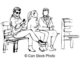 270x194 Boy And Girl Sitting On Park Bench Vector Clipart Eps Images. 68