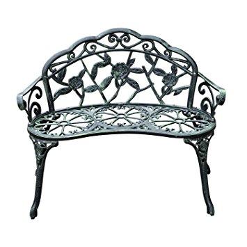 355x355 Outsunny Cast Aluminium Outdoor Garden Patio Antique Rose Style