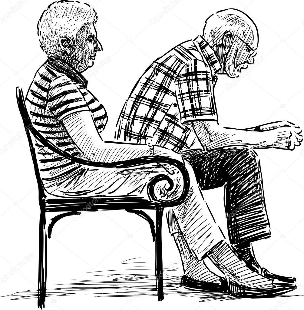 1004x1024 Elderly Spouse Resting Stock Vector Samakarov@mail.ru