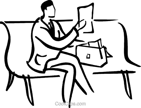 480x368 Man Sitting On A Park Bench Royalty Free Vector Clip Art