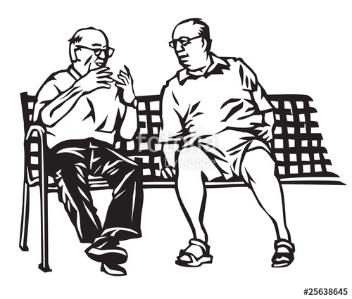 500x425 Old Guys Talking On Park Bench Stock Image And Royalty Free