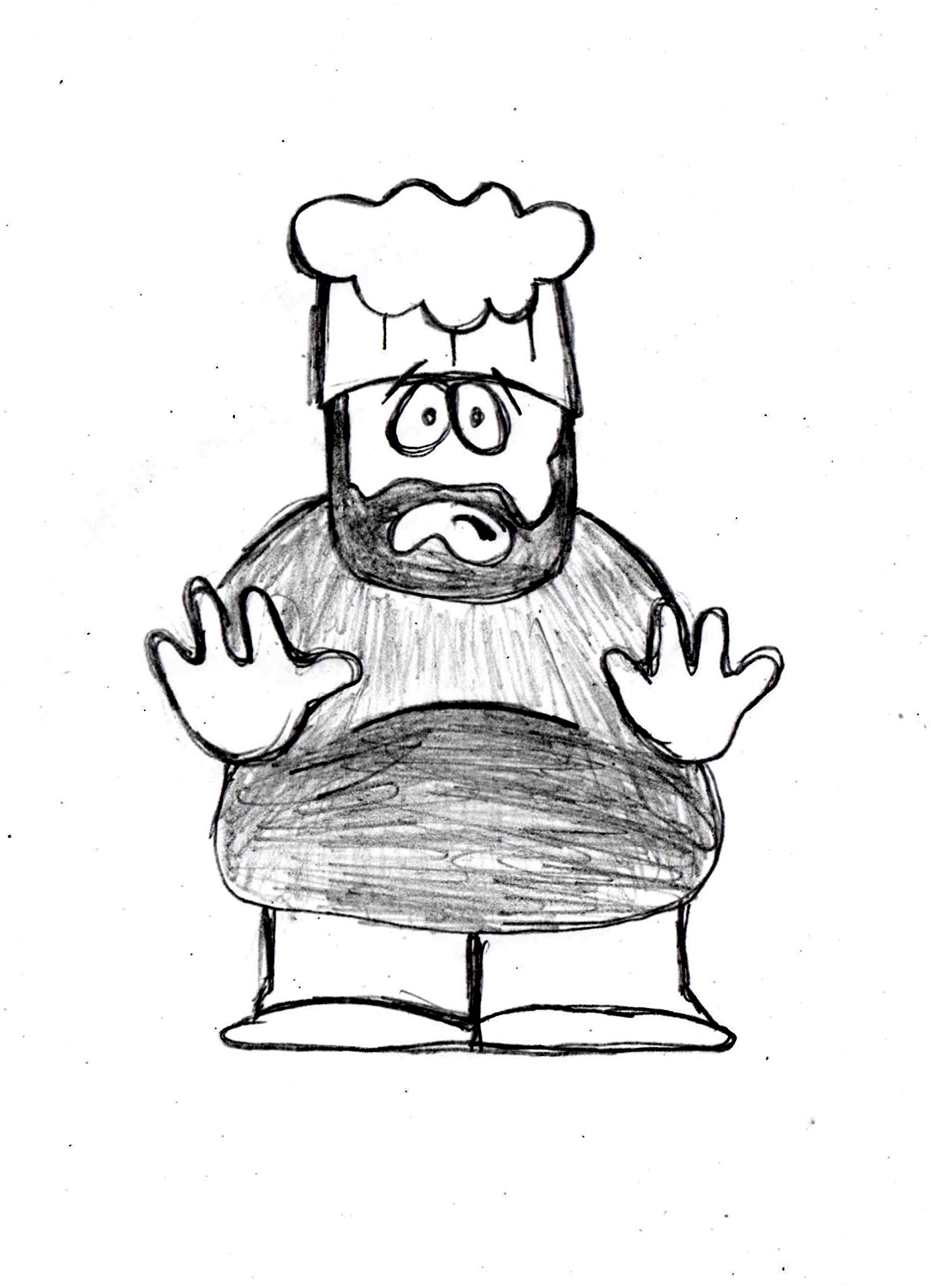 1403x1942 Drawing Lesson For Chef From South Park