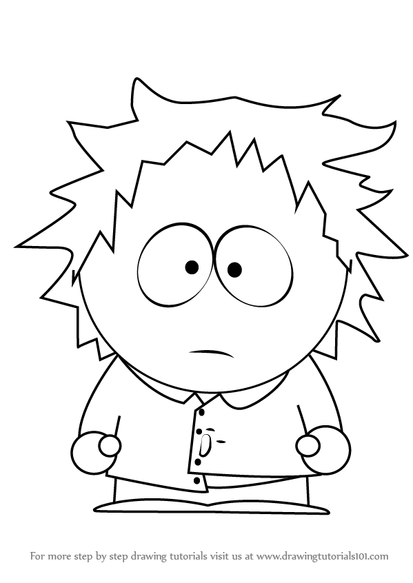 599x846 Learn How To Draw Tweek Tweak From South Park (South Park) Step By