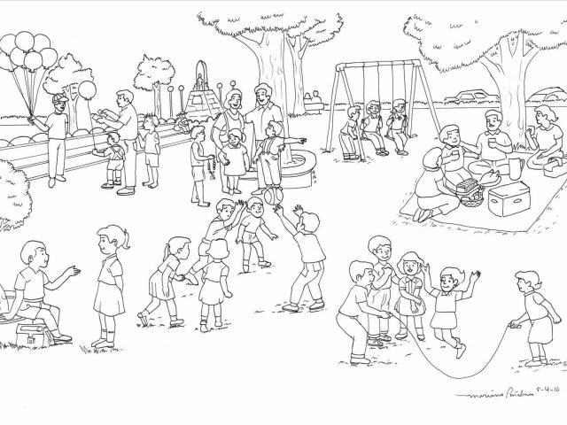 640x480 The Images Collection Of Scene Playground Park Drawing Clipart